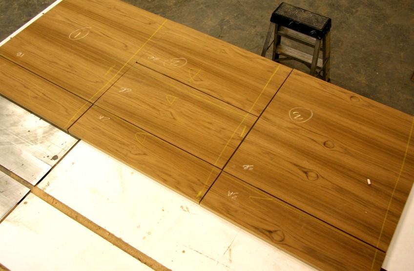 Semihandmade Flatsawn Teak Veneer Sequence